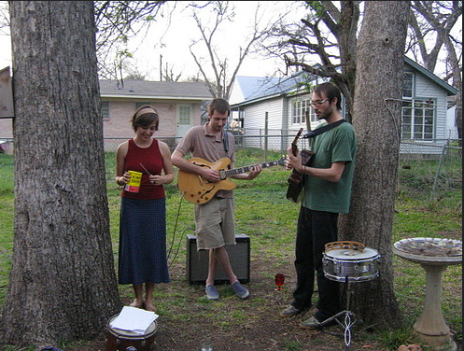 My first solo performance in a backyard w MDA and Martin Crane